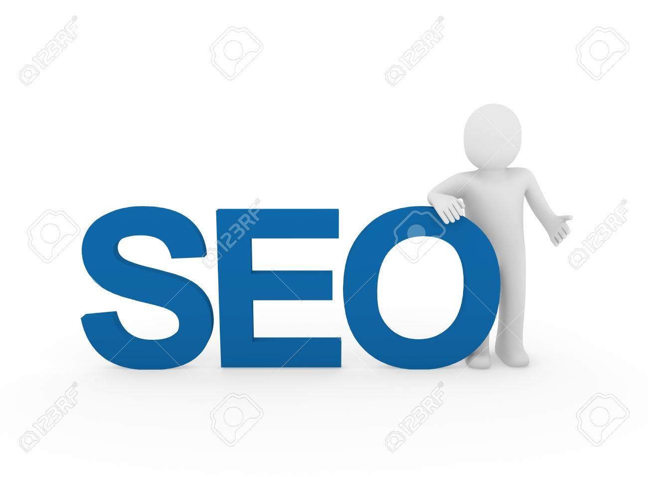 3d human men seo web internet blue business Stock Photo - 9559663