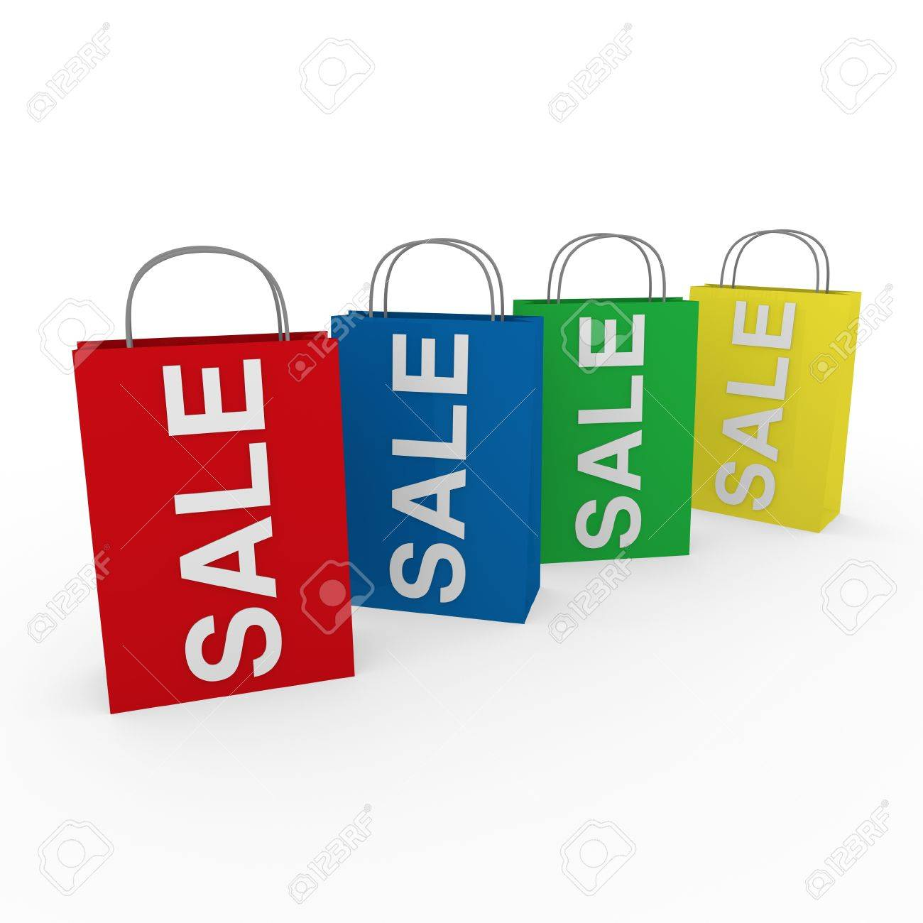 3d sale bag red retail shopping discount buy Stock Photo - 9611985
