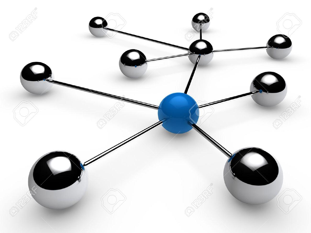 3d, blue, chrome, ball, network, communication, white Stock Photo - 10061575