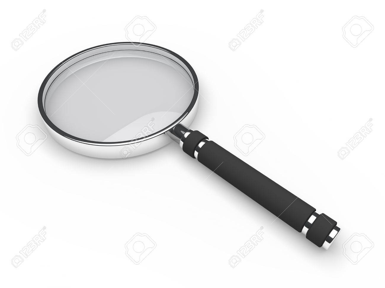 3d glass magnifying lens search zoom view stock photo picture and