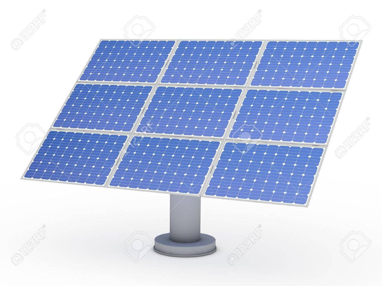 Puissance Panneau Photovoltaique dedans puissance de panneau photovoltaïque solaire bleu 3d banque d'images