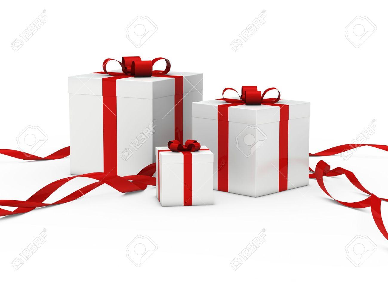 Christmas gift box white white red ribbon christmas gift box white white red ribbon 11209734 negle Choice Image