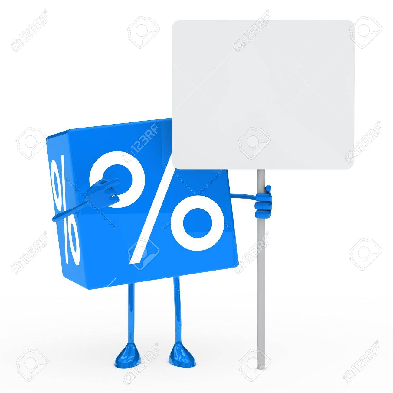 blue sale cube show on a billboard Stock Photo - 12174285