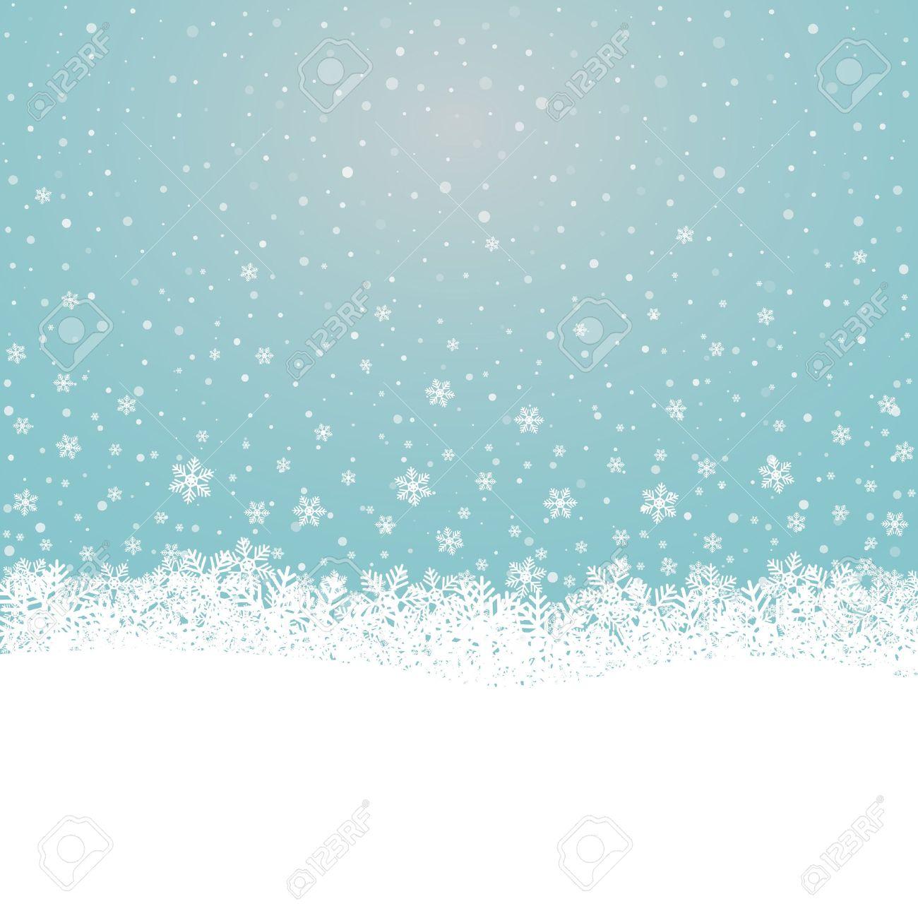 Flocon De Neige Tombent étoiles Bleues Sur Fond Blanc Clip Art