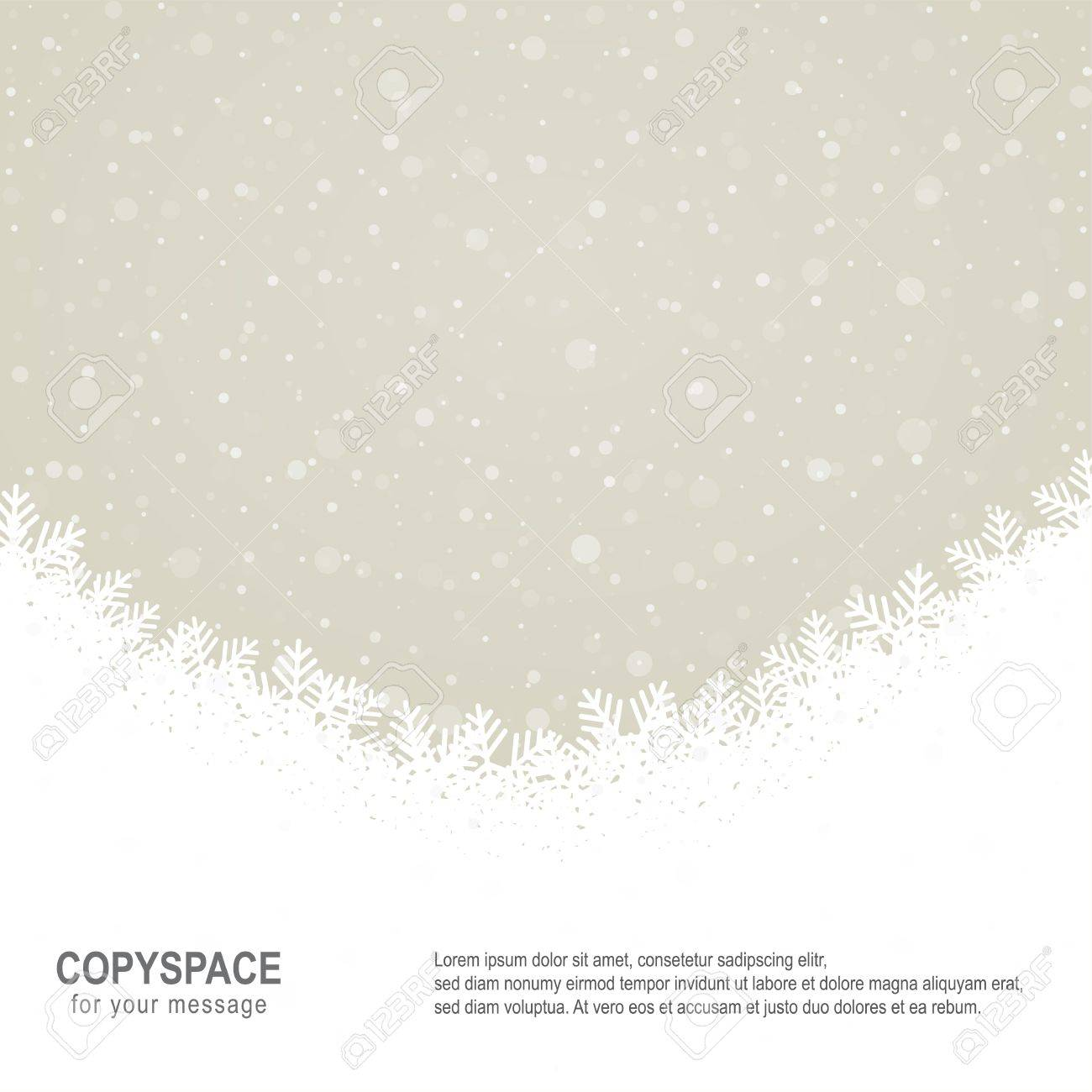 fall snowflake snow stars brown white background Stock Vector - 16429415