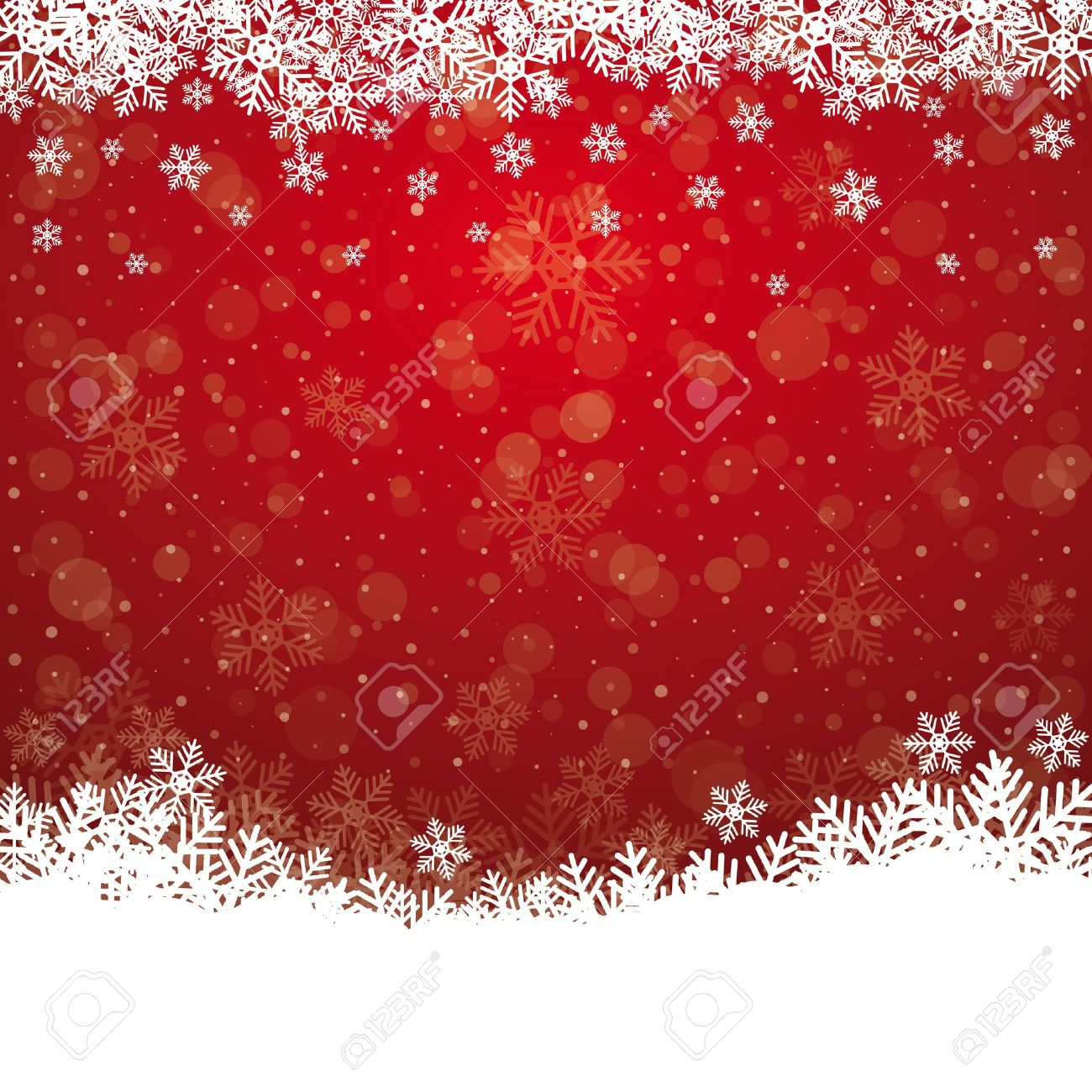 Fall Snowflake Snow Stars Red White Background Royalty Free ...