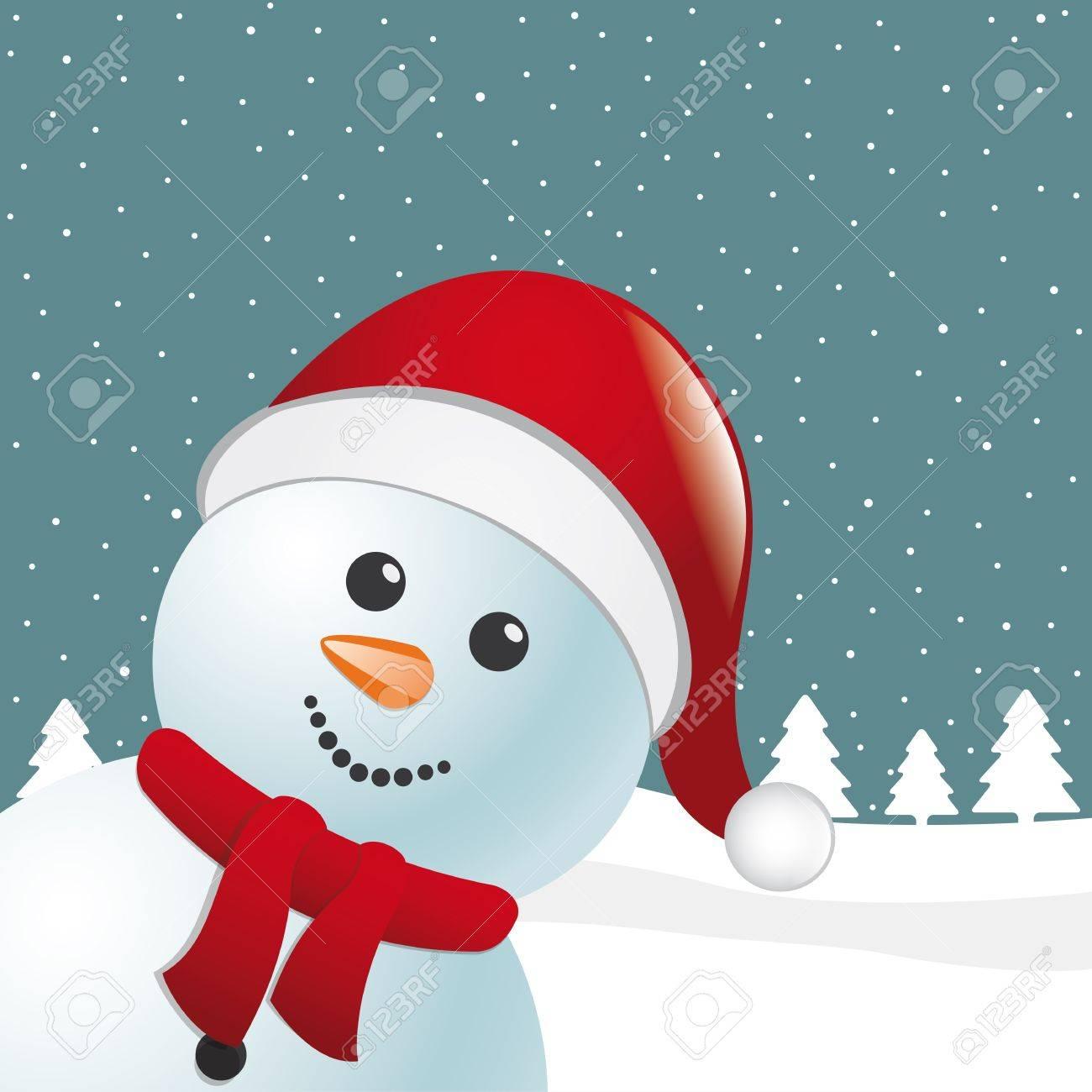 Claus Snowman Snowman Scarf Santa Claus Hat