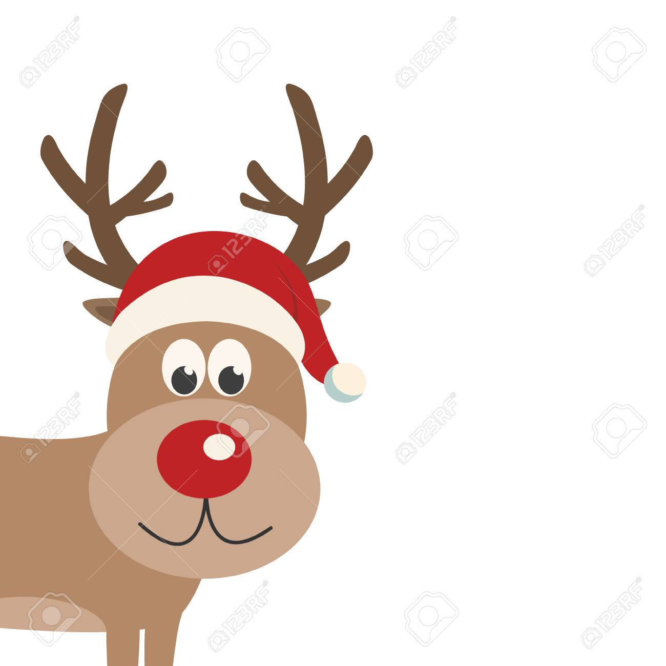a269259a385da Reindeer Santa Hat Isolated Background Royalty Free Cliparts ...