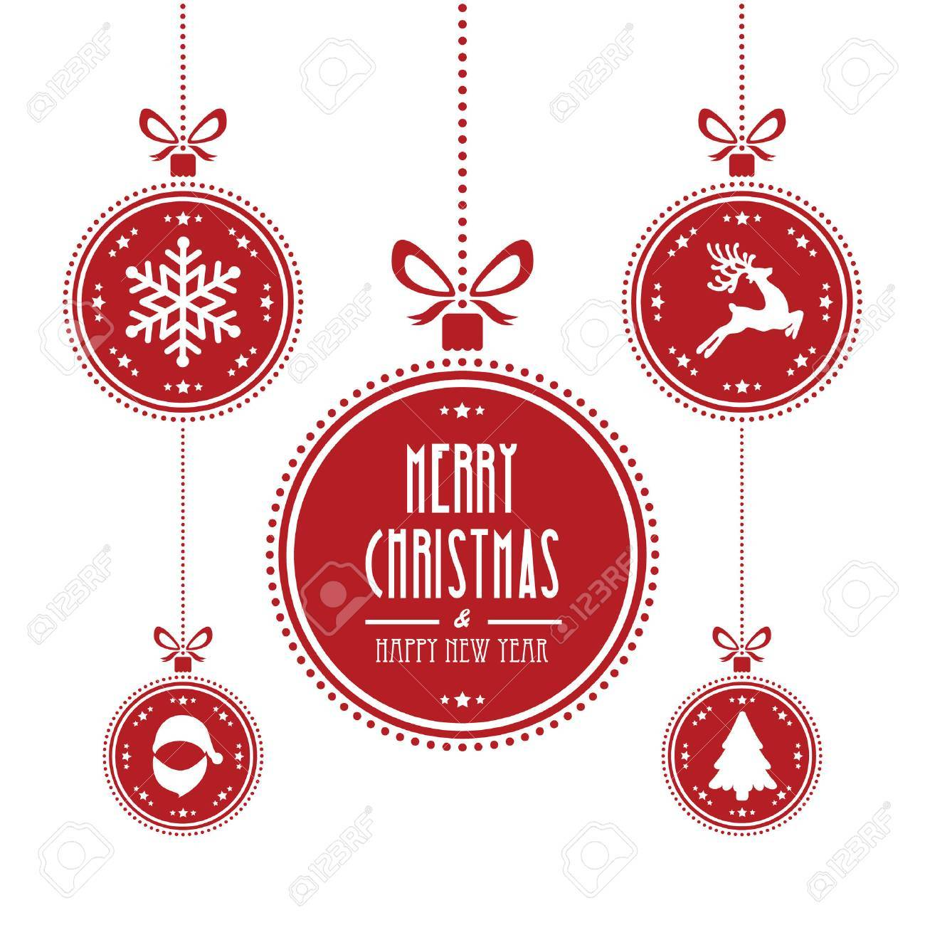 christmas ball red isolated background - 33773046