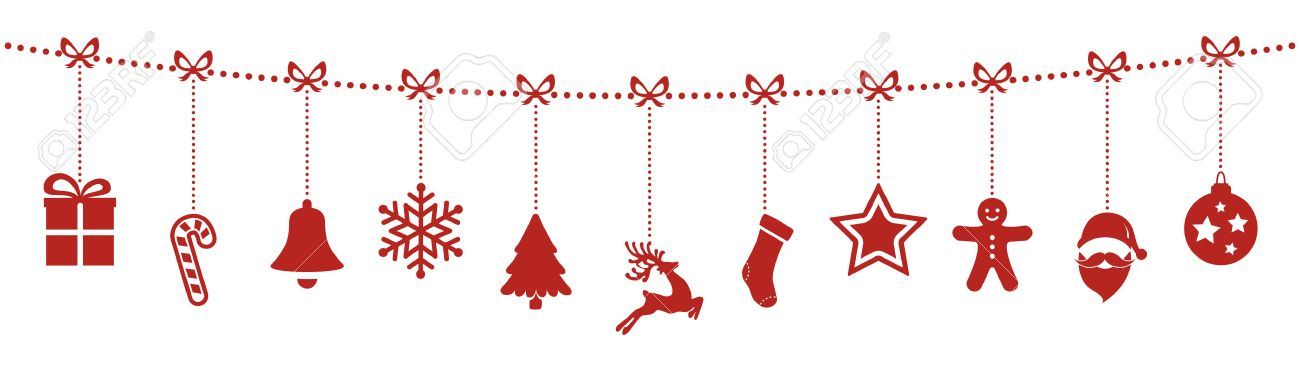 separation shoes 8d688 c2a98 christmas ornaments hanging rope red isolated background