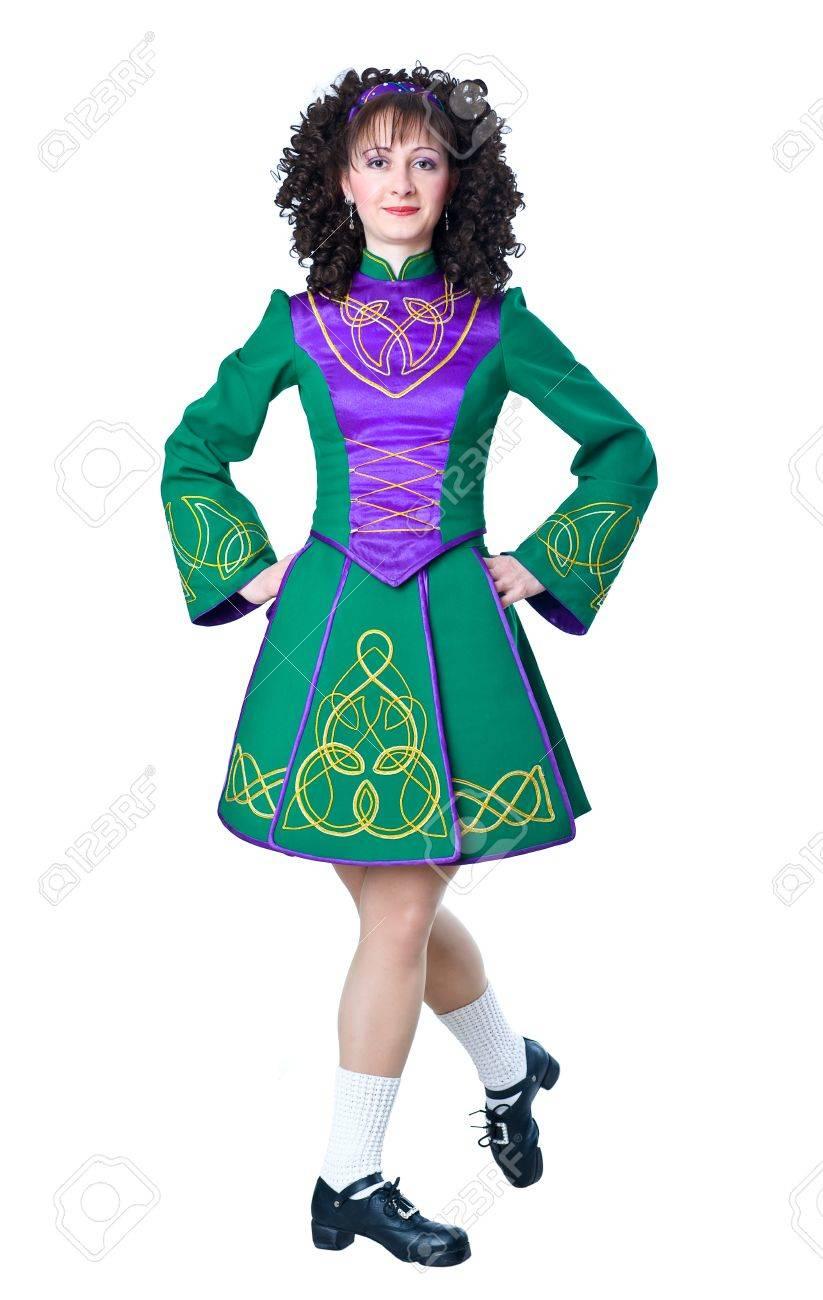 Woman irish dancer taking a step Stock Photo - 12313753