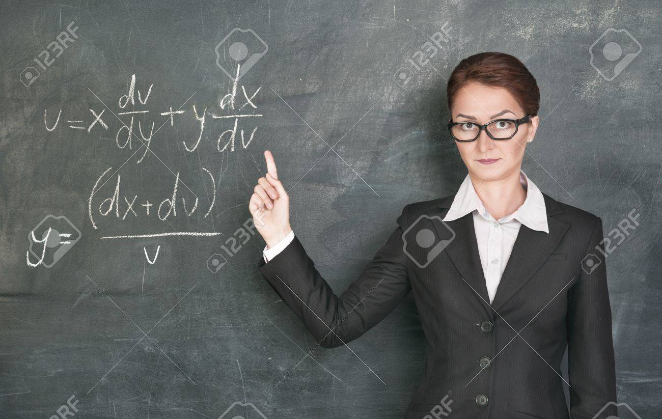 Woman Teacher Teaching Maths Stock Photo, Picture And Royalty Free ...