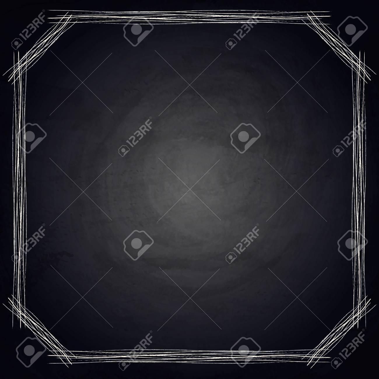 写真素材 , 黒板黒板背景に空の境界線。ベクトル図