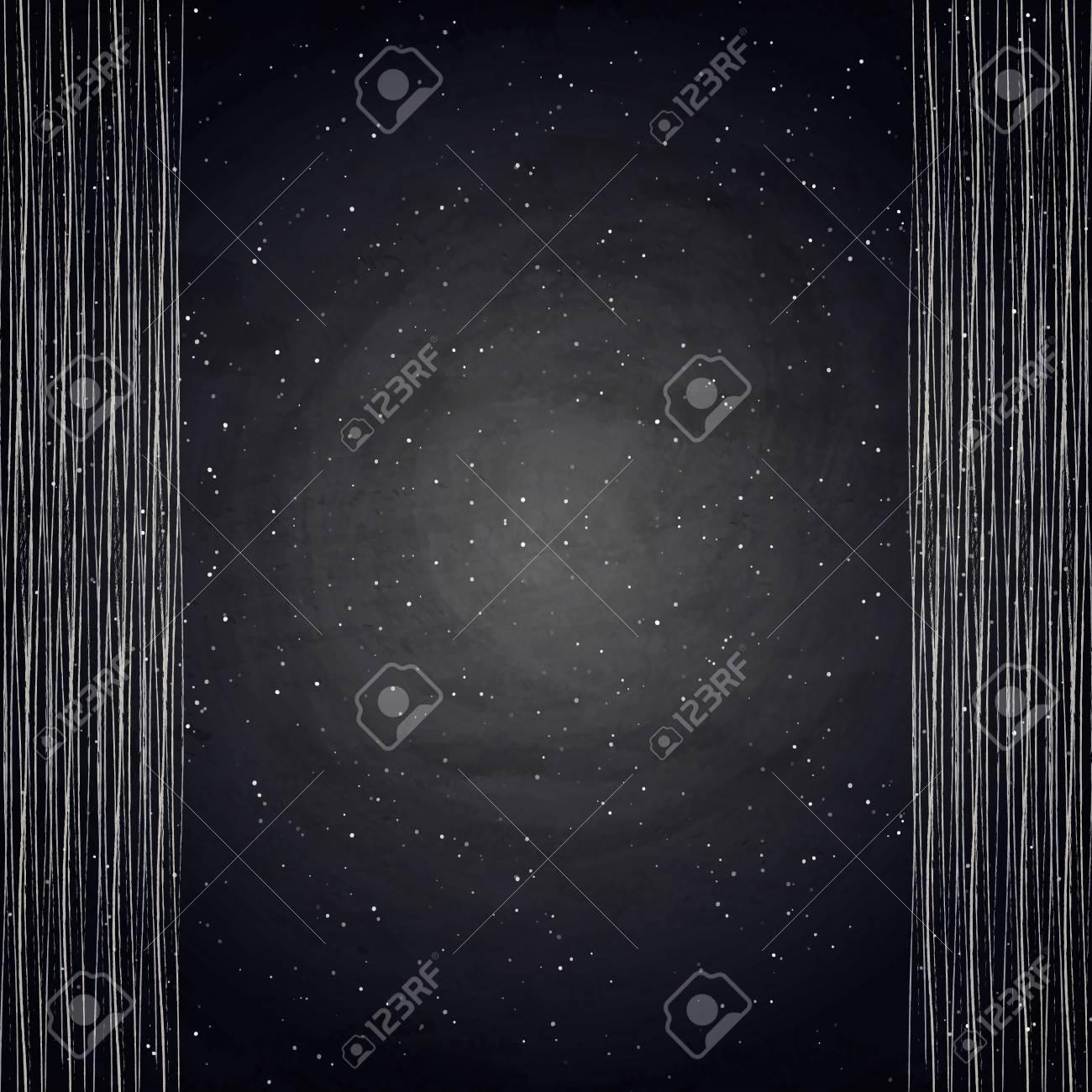 empty border on blackboard chalkboard background vector