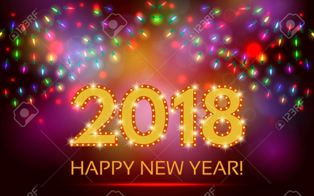 happy 2018 new year banner stock vector 85360030