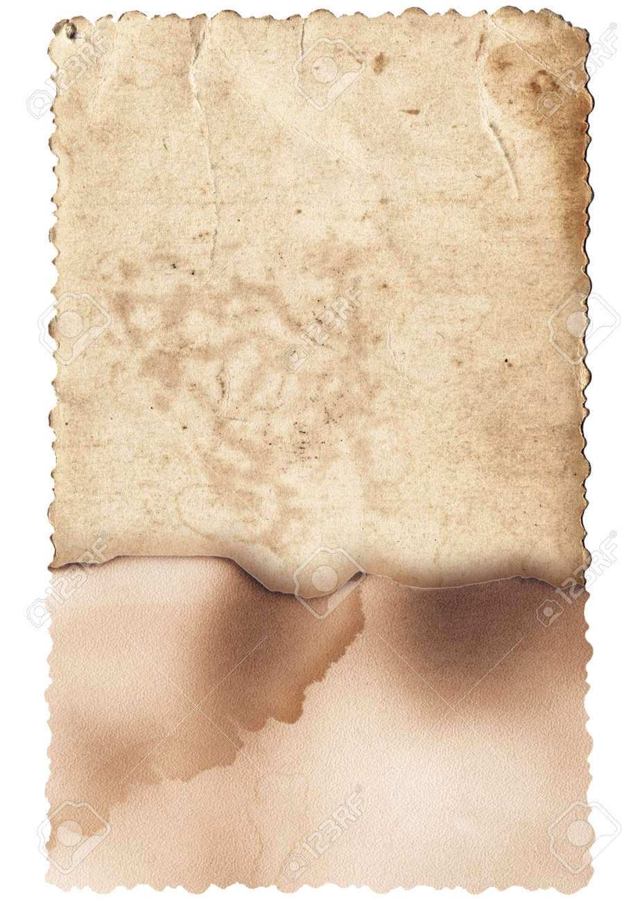 Old photo texture with stains and scratches isolated - 166388973