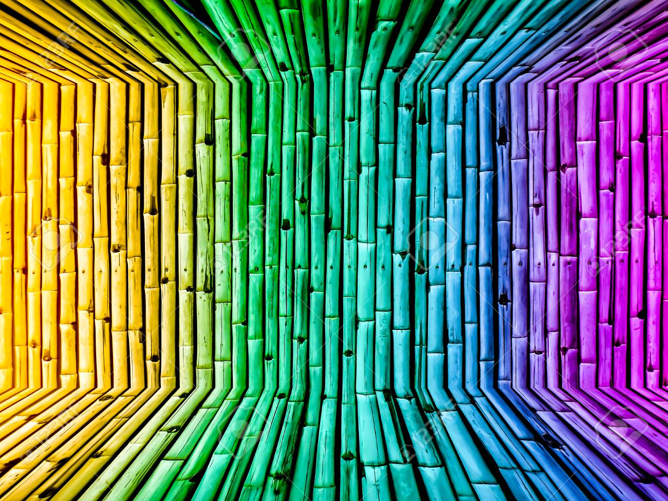 Bamboo Dimension Gradient Background Wallpaper Vintage From Nature Stock Photo