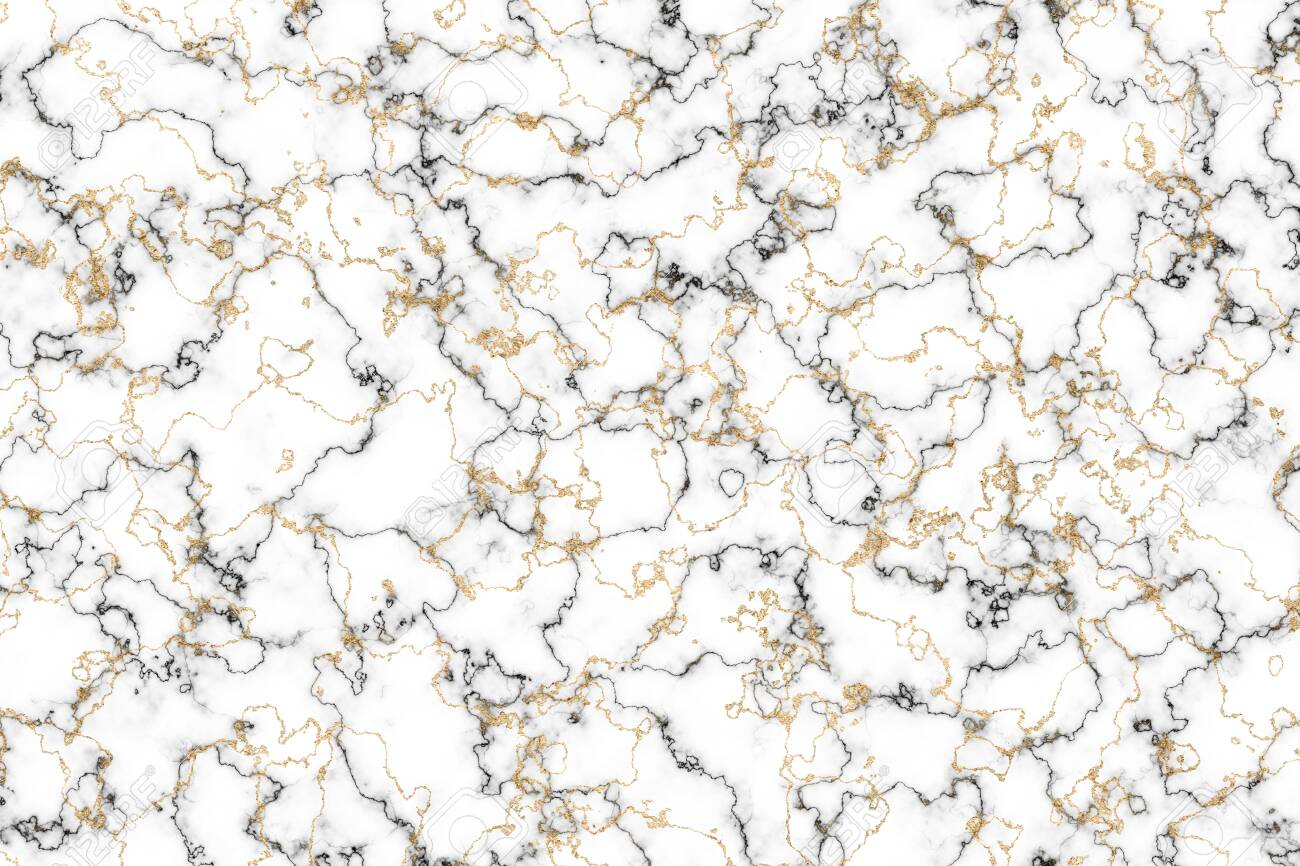 Black And White Marble And Gold Mineral Luxury Interior Wall Stock Photo Picture And Royalty Free Image Image 141153732