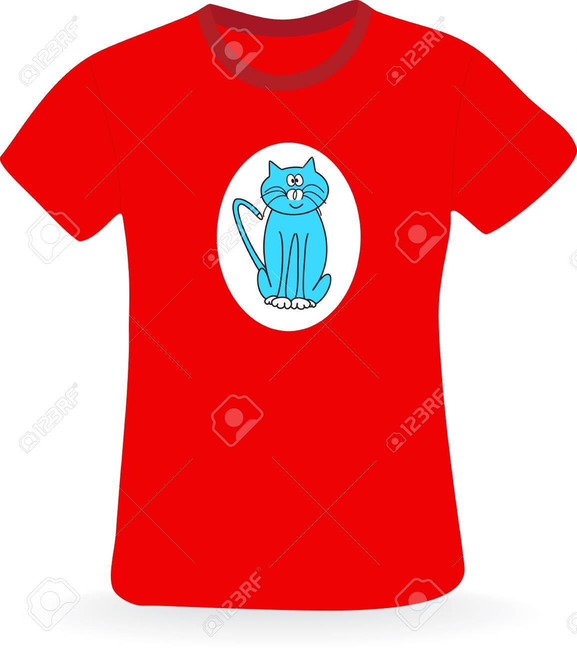 猫の T シャツベクトル図のイラスト素材ベクタ Image 18626948
