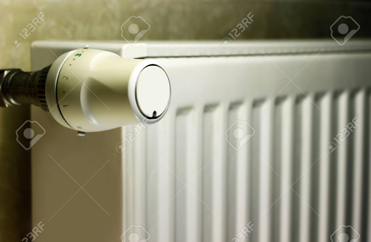 Radiator thermostat close up - 18359855