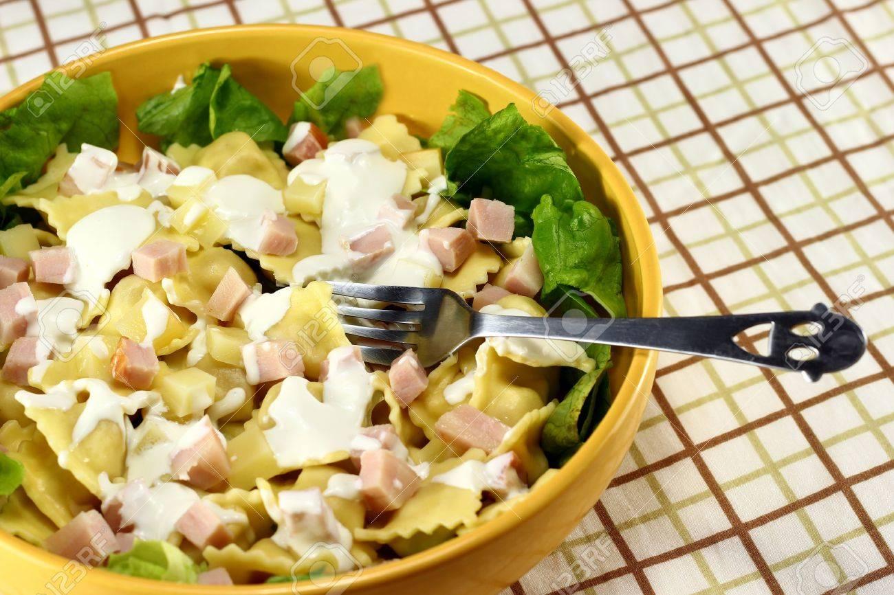 Pasta Ravioli Pasta Salad Made From Ravioli