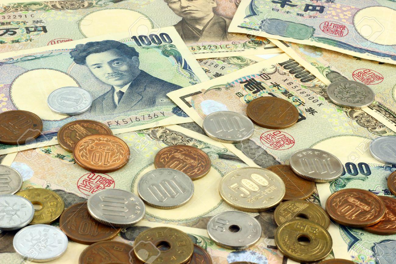 Japanese yen bills and coins - 18587426