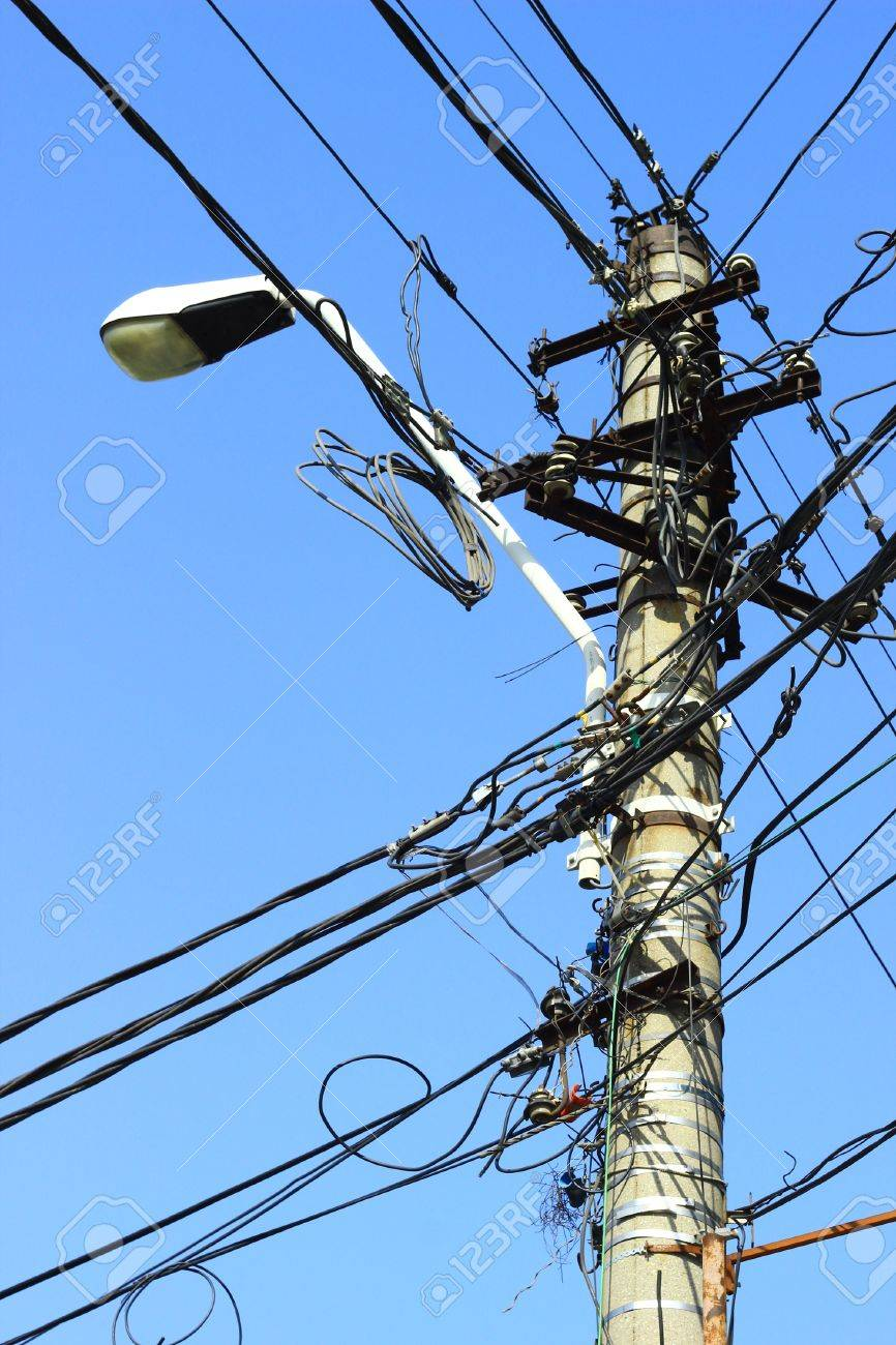Tangled Wires On The Street Stock Photo, Picture And Royalty Free ...