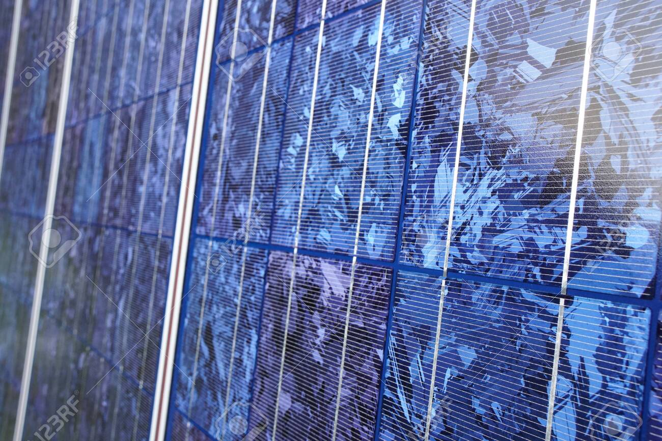 Close view of solar panel. - 149445882