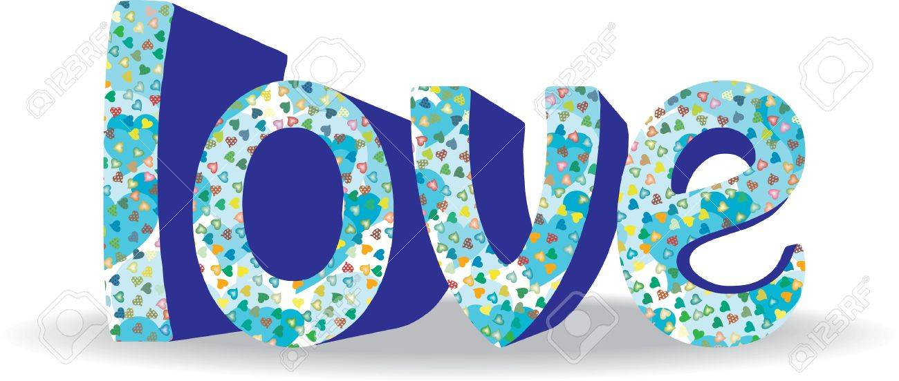 Surround the word of Love Hearts Stock Vector - 11664382