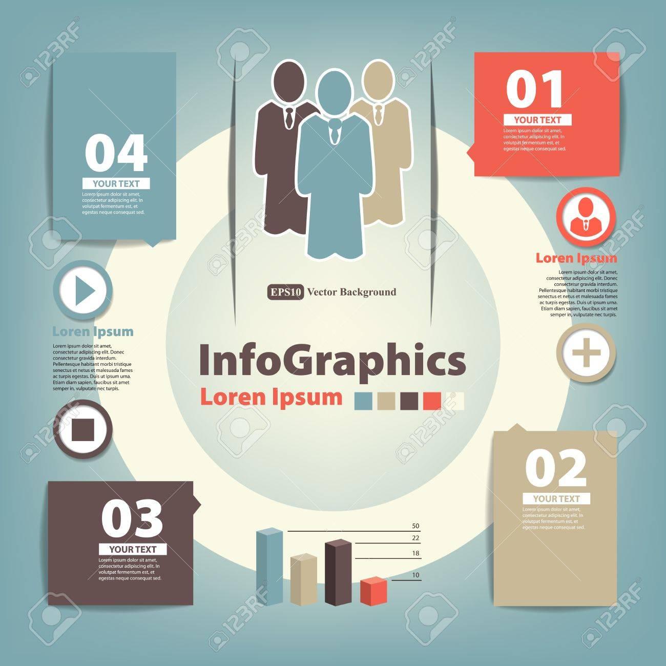 Modern Design template for infographics Stock Vector - 17851671