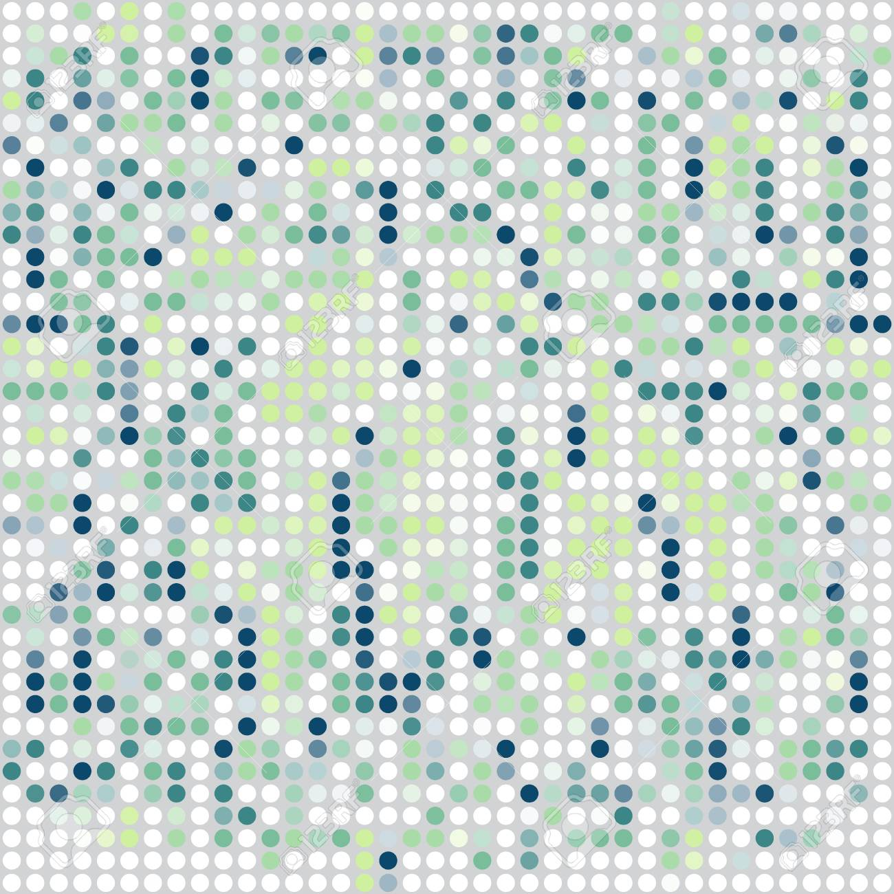 mosaic ornamental seamless pattern in shades of green Stock Vector - 18784187