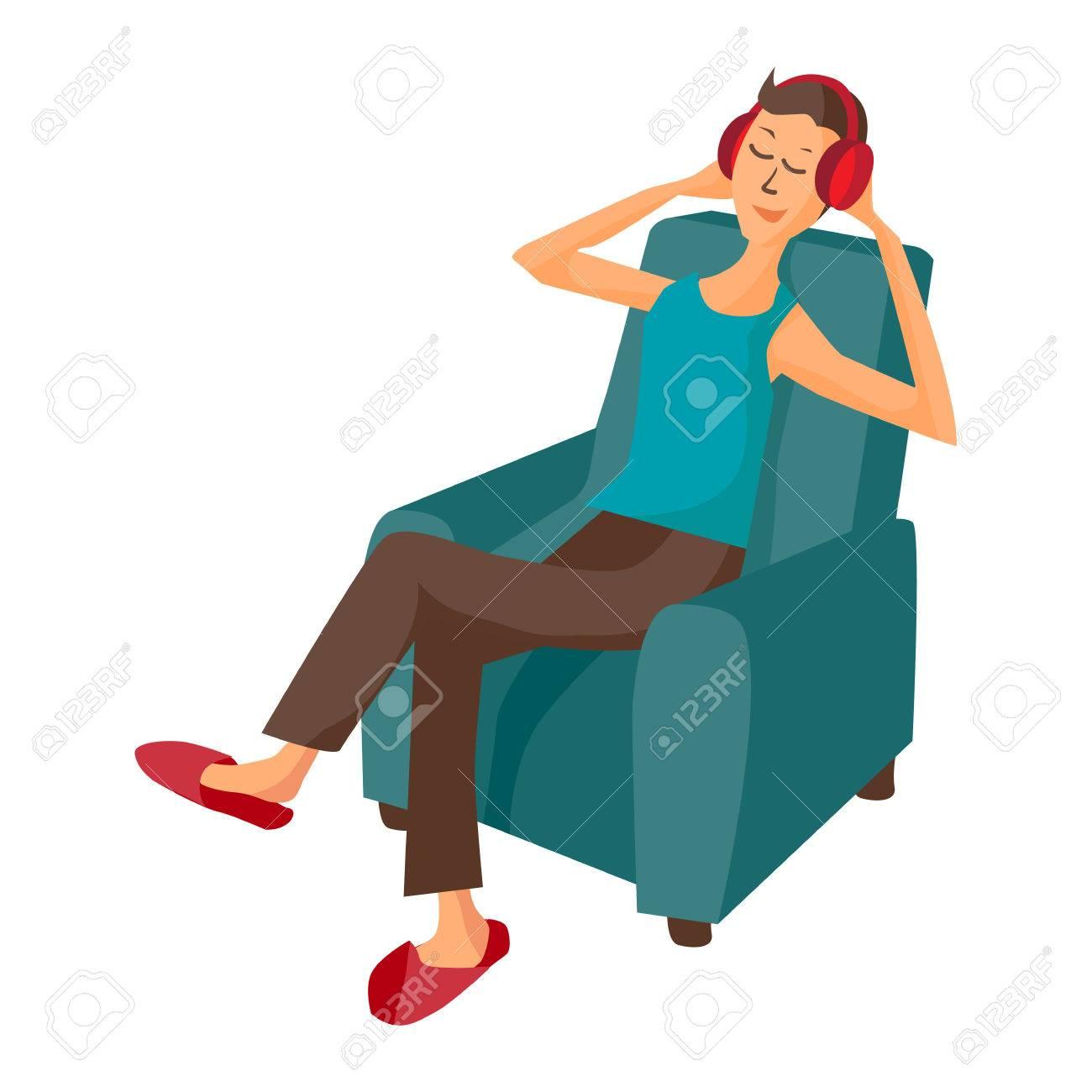 Cartoon Person Sitting In Chair