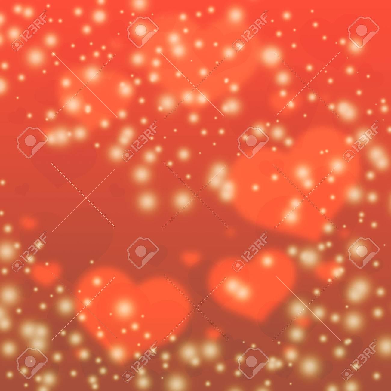 Fondo De Los Corazones De Color Rojo Corazones Borrosa Fondo Del