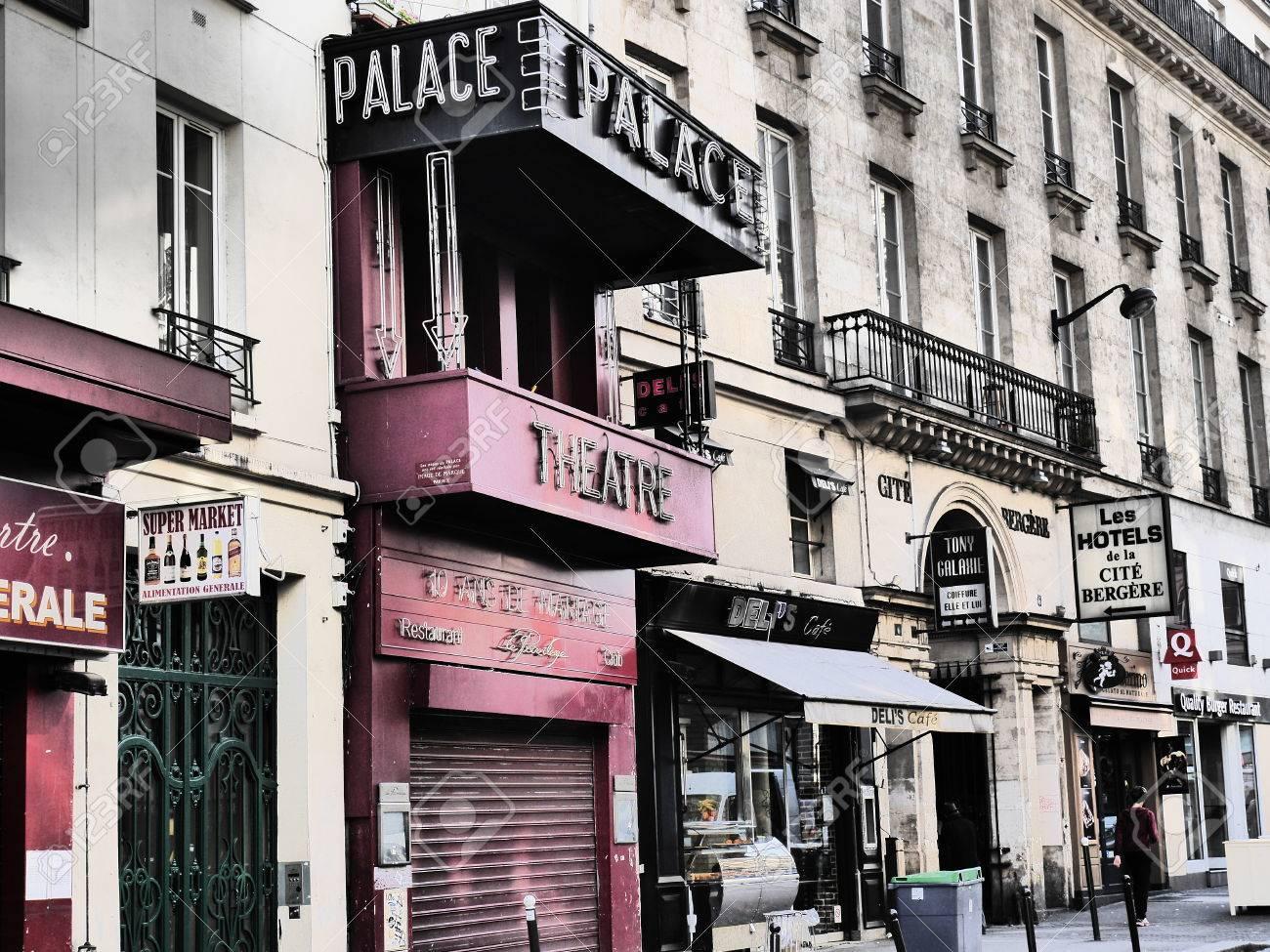 Theatre Le Palace 8 Rue Du Faubourg Montmartre 75009 Paris Stock ...