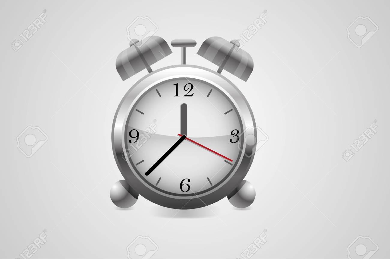 Metal alarm clock.Vector. Stock Vector - 8910249
