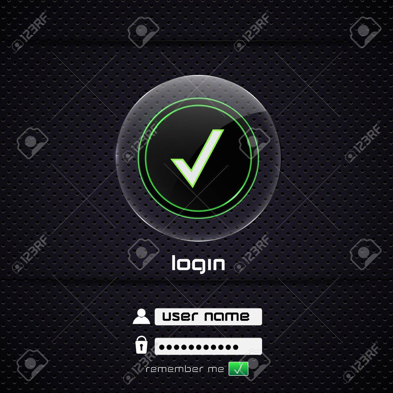 Illustration of a login page Stock Vector - 13748464