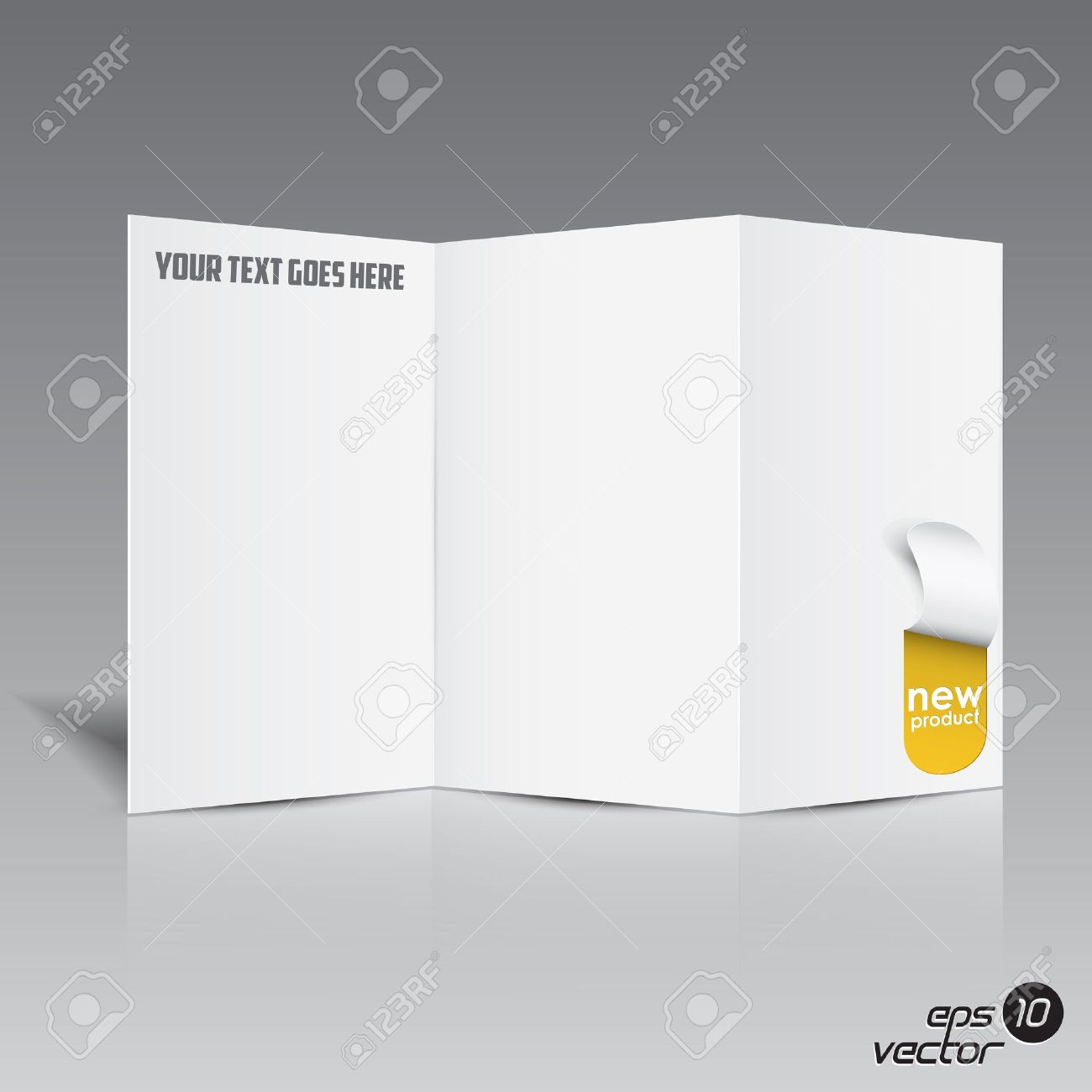 Folded Blank Brochure For Your Design Royalty Free Cliparts – Free Blank Tri Fold Brochure Templates