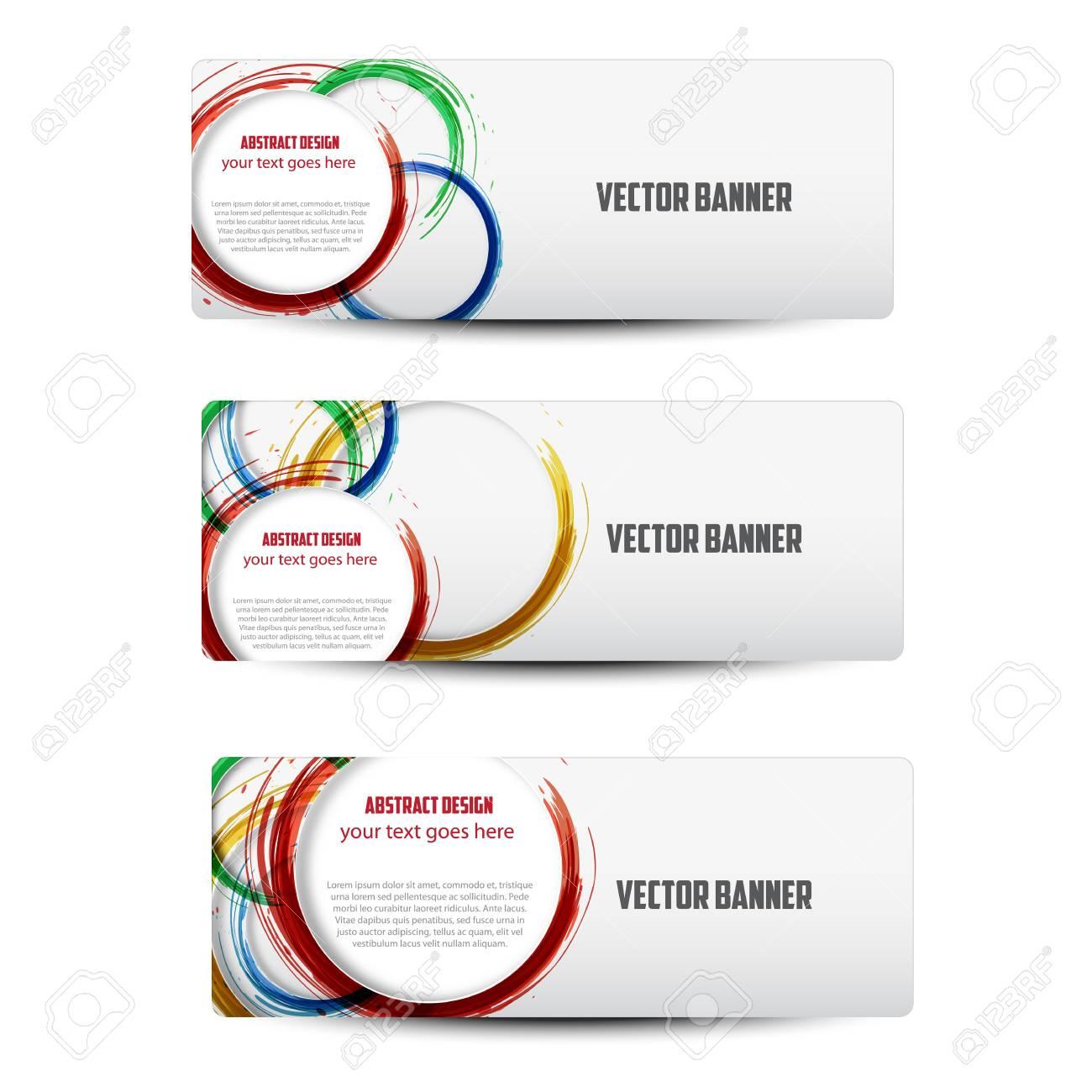 Set Design-Elemente Für Web-oder Blog-Vorlagen Lizenzfrei Nutzbare ...