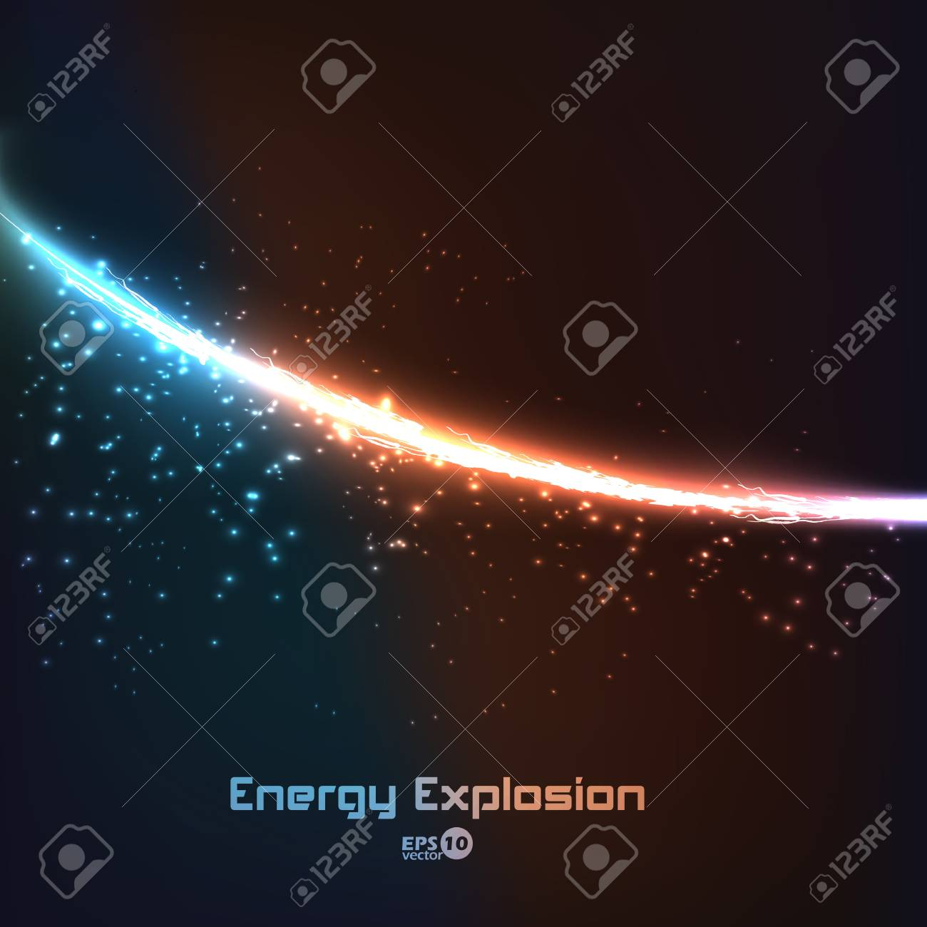 abstract energy explosion Stock Vector - 14661699