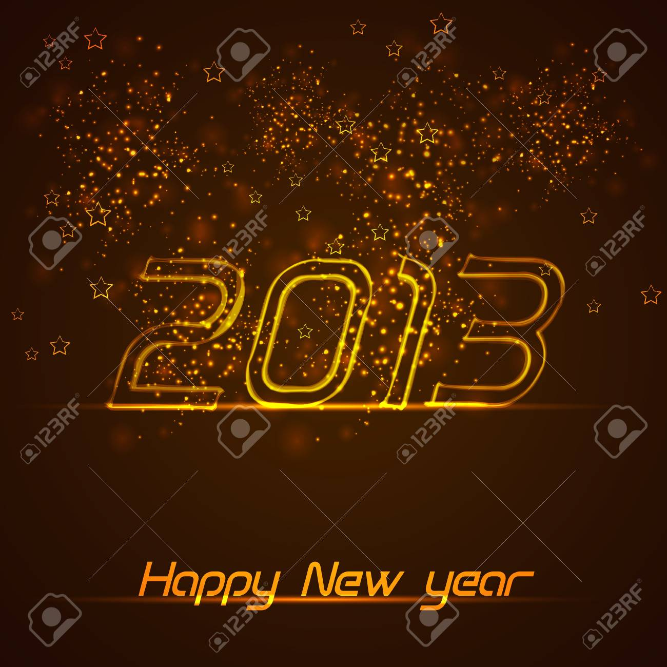 Happy New Year greeting card Stock Vector - 16641680