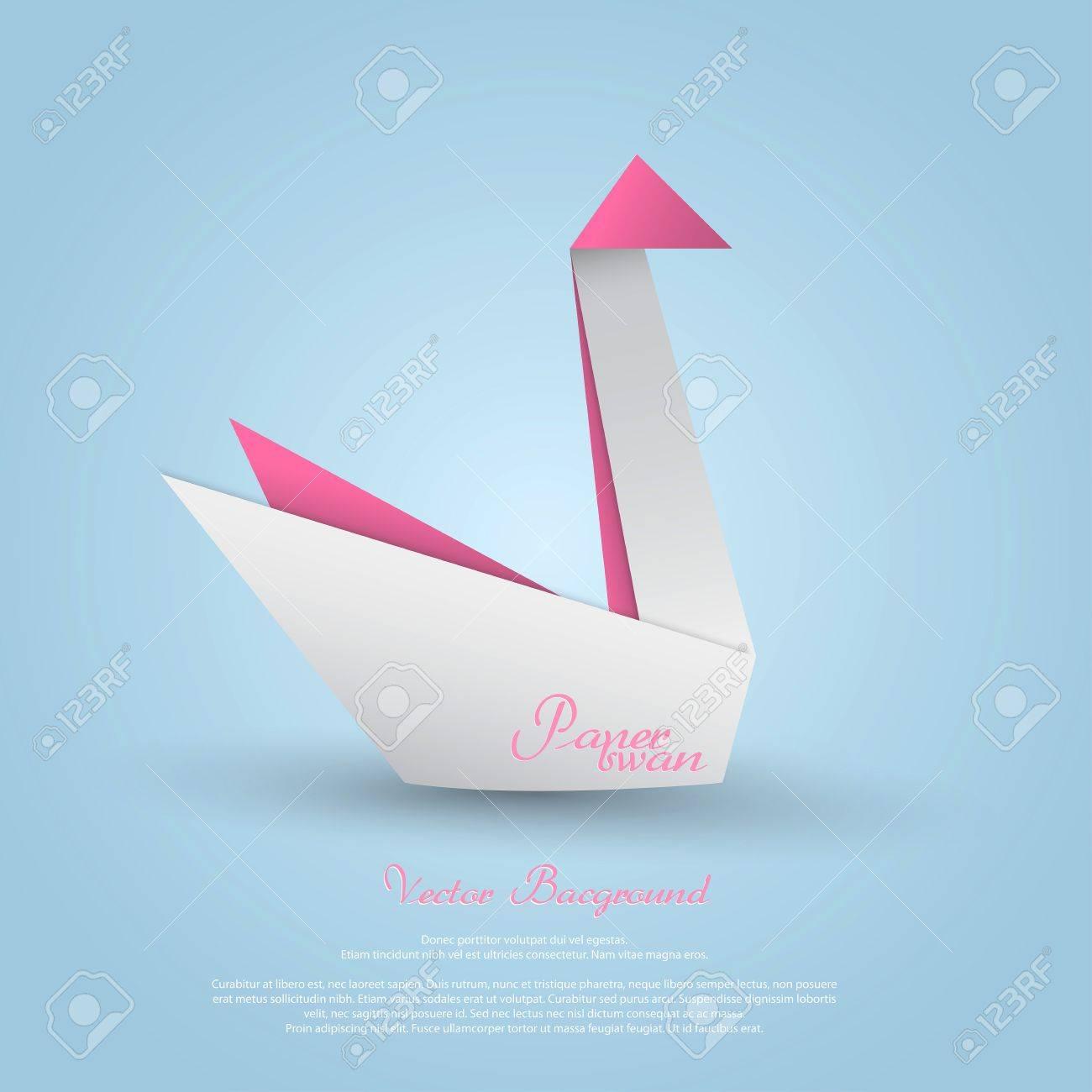 Origami SwanVector Stock Vector