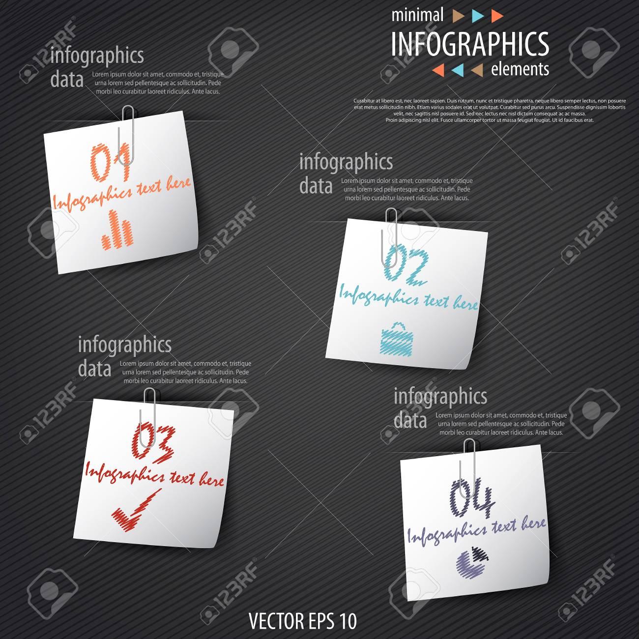 Minimal infographics. Stock Vector - 17920274