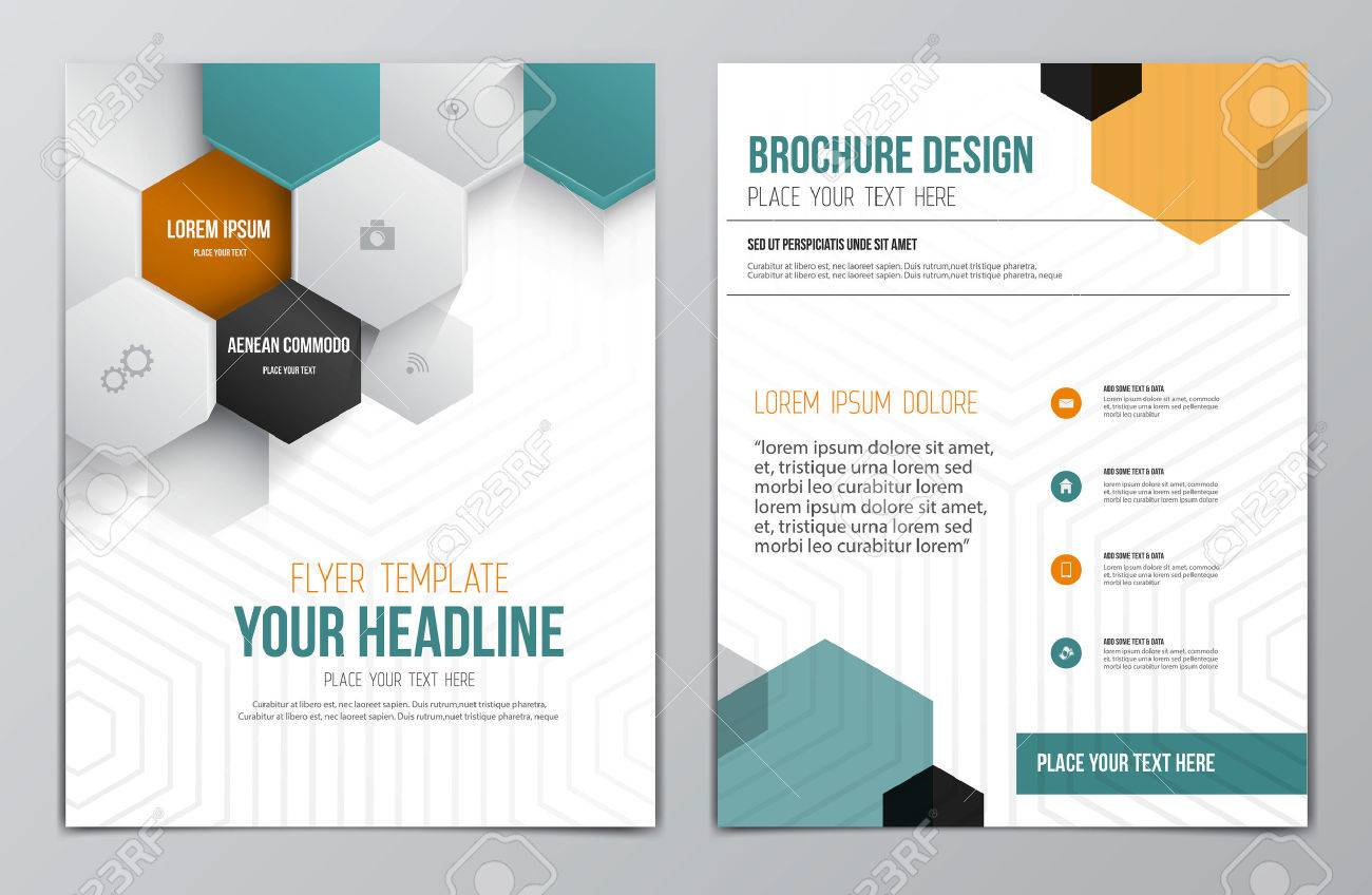 Brochure Design Template Geometric Shapes Abstract Modern - Free brochure design templates