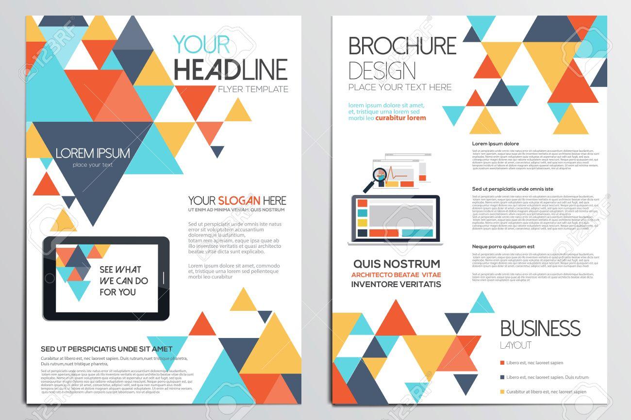 Connu Template Design Brochure. Les Formes Géométriques, Abstraites Fond  TY99