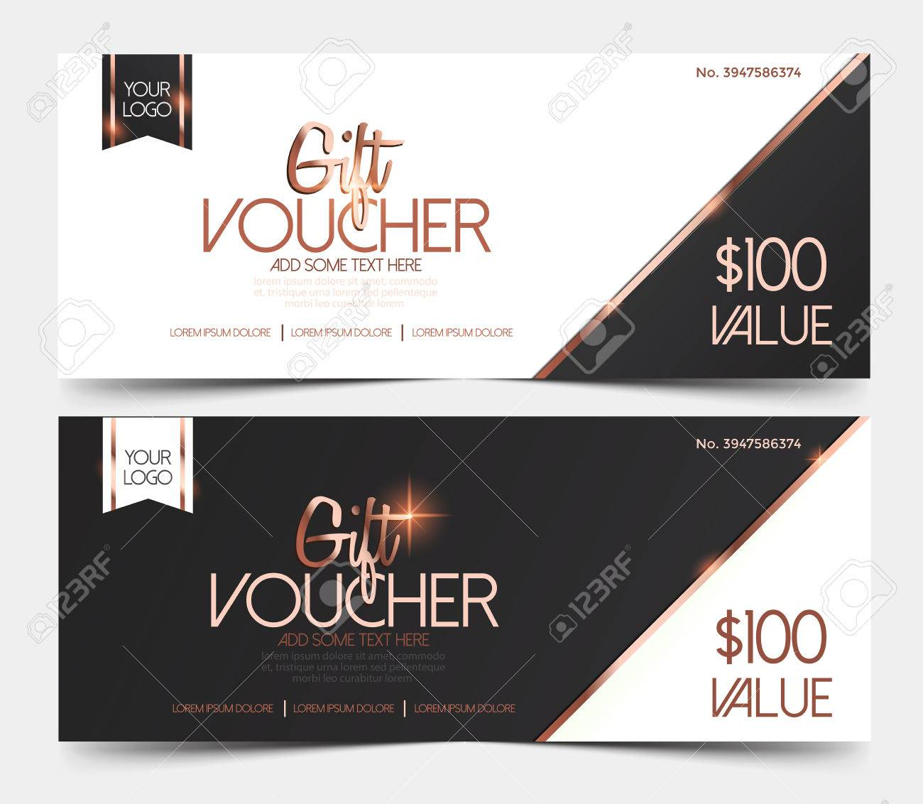 Gift Voucher Template Gift Voucher Certificate Coupon Design - Gift certificate template add logo