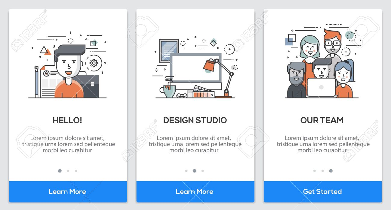 onboarding design studio app screens modern user interface ux
