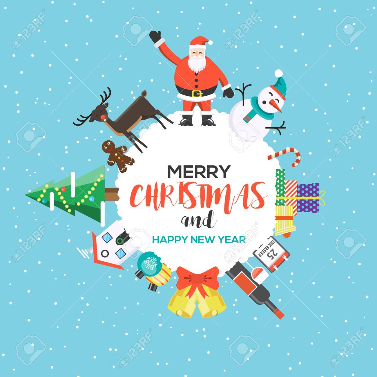 Modern flat creative christmas greeting card design happy holidays modern flat creative christmas greeting card design happy holidays can be used as christmas m4hsunfo