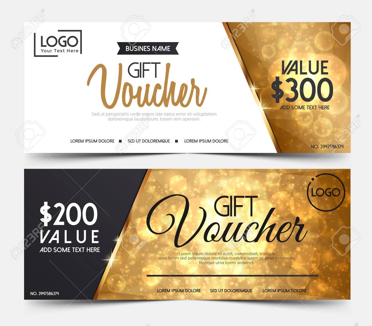 gift voucher template gift voucher certificate coupon design