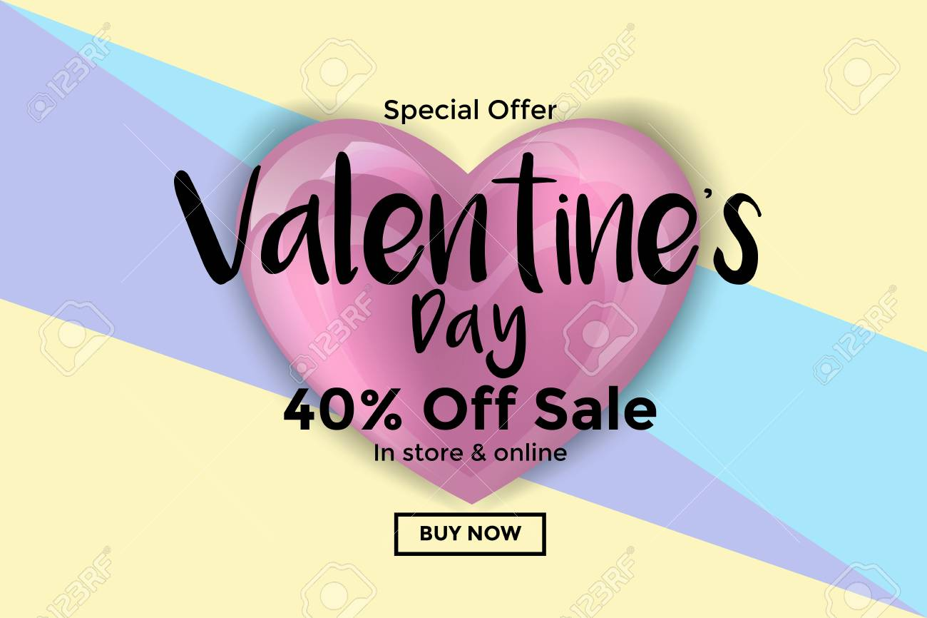 Happy valentines day greeting card or banner romantic composition happy valentines day greeting card or banner romantic composition with frame for text and flying m4hsunfo