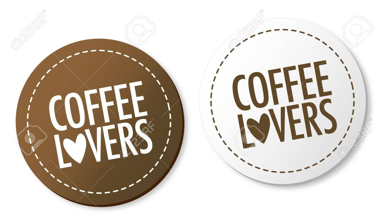 Coffee lovers stickers Stock Vector - 10136417